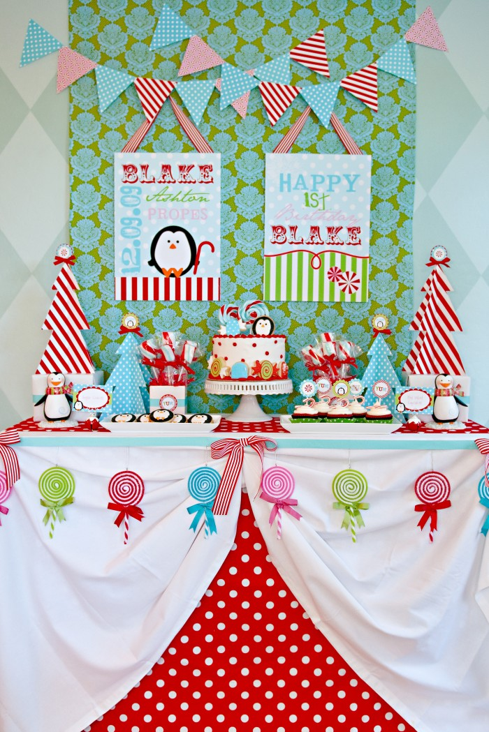 Blake's Winter Candyland 1st Birthday Party