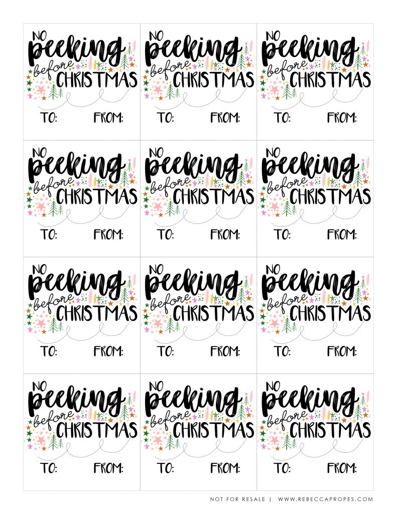 image about Gift Tag Printable Free titled No cost Printables Rebecca Propes Style Do it yourself