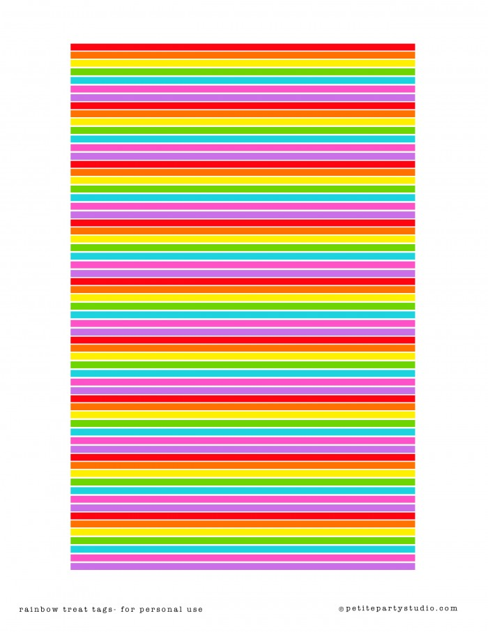 Rainbow Candy Cup Printable