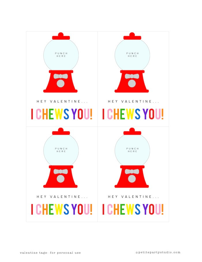 Valentine Printables - Gumball Machine copy