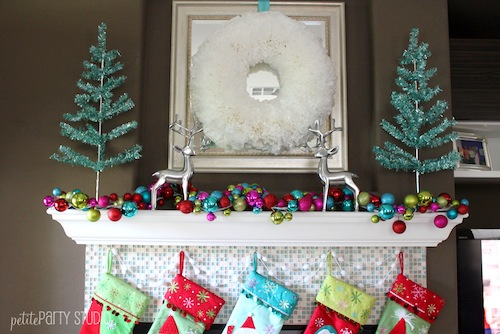 Holiday Mantel Coffee Filter Wreath 2