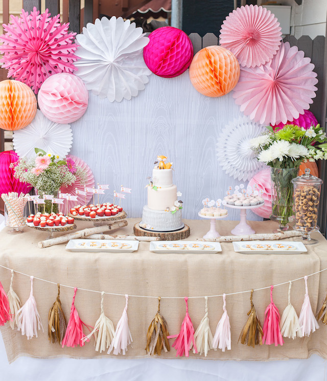 Foxy Baby Shower Dessert Table By Petite Party Studio When ...