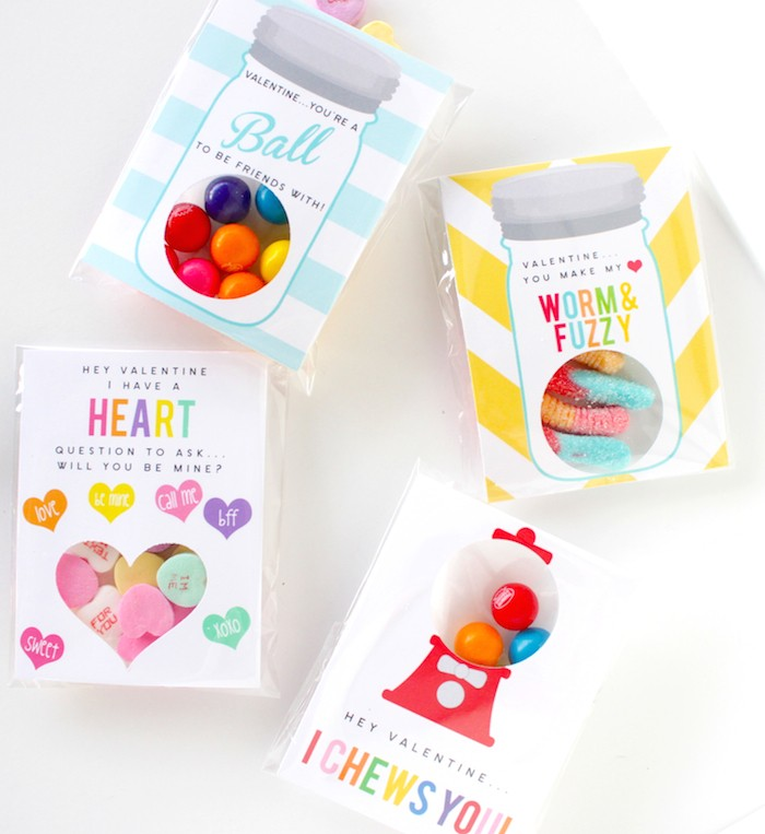 DIY Classroom Valentine Treat by Petite Party Studio