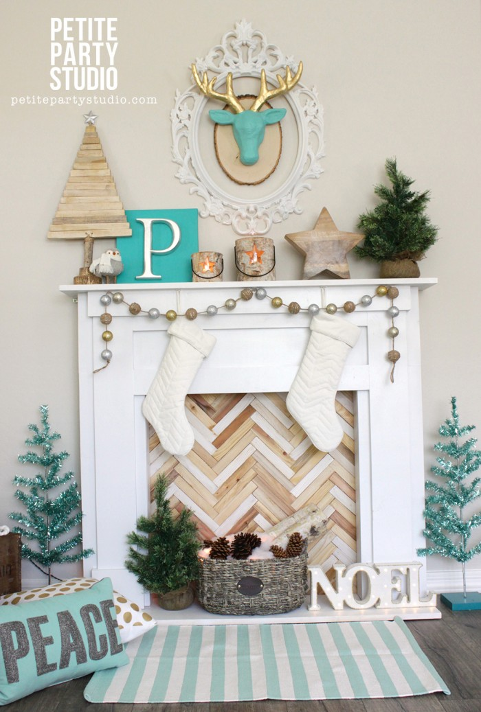 DIY Holiday Mantle