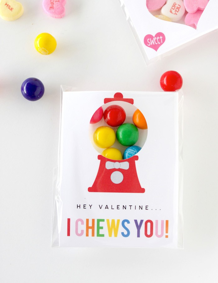 Gumball Machine Valentine Printable Petite Party Studio