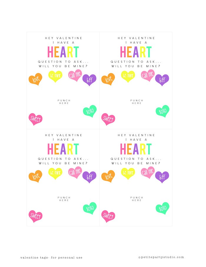 Valentine Printables - Conversation Hearts copy
