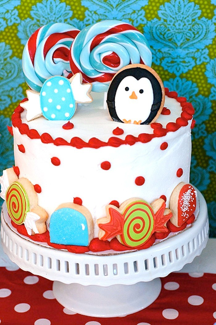 Winter Candyland Cake