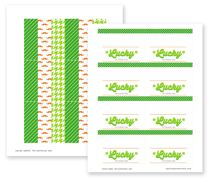 St Patricks Day Printables by Petite Party Studio