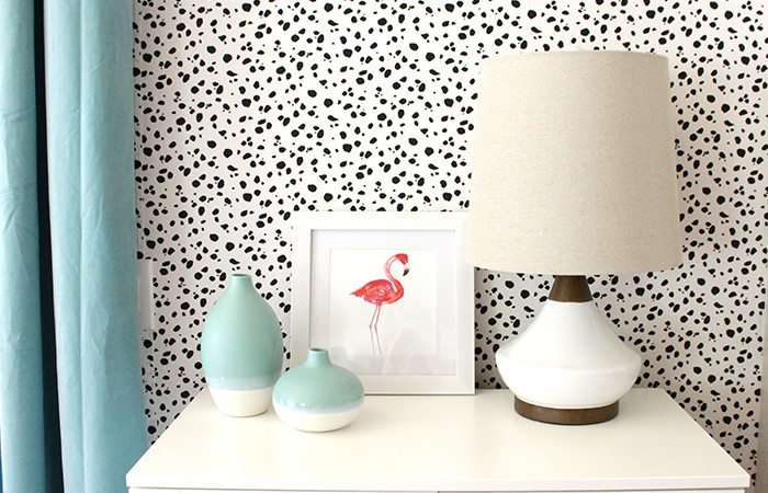 Dalmatian Print Fabric Wall DIY
