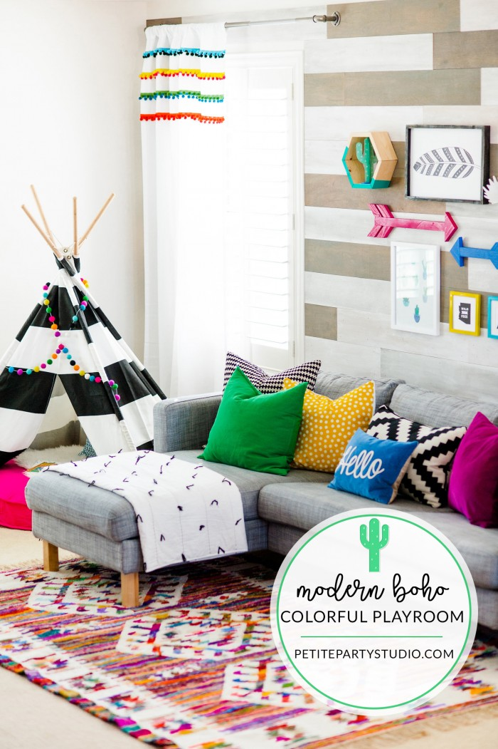 Modern Boho Kids Playroom