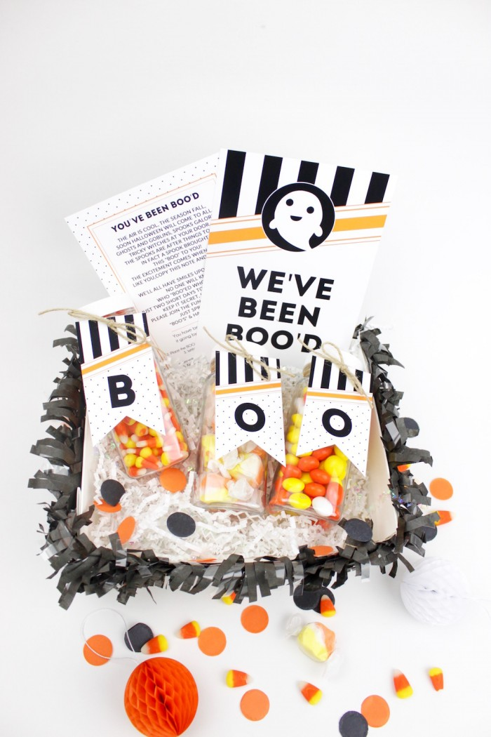 Halloween Boo Basket with free Printables