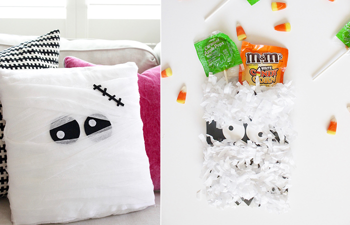 DIY Mummy Pillow and Favor Bags