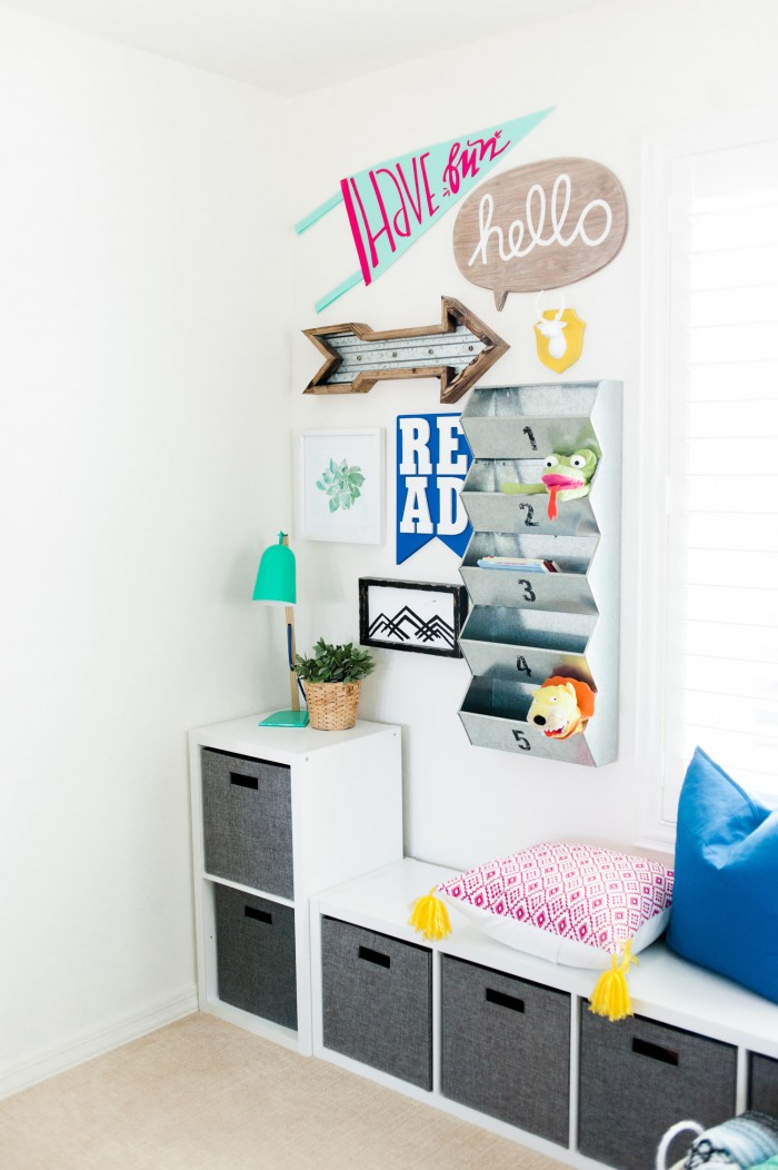 kids playroom reading nook