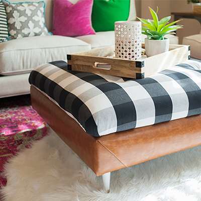 Buffalo Check Ottoman DIY