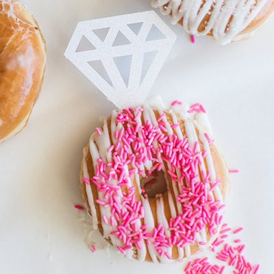 DIY donut diamond rings