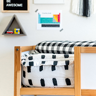 Modern Colorful Boy's Room Reveal with Beddy's