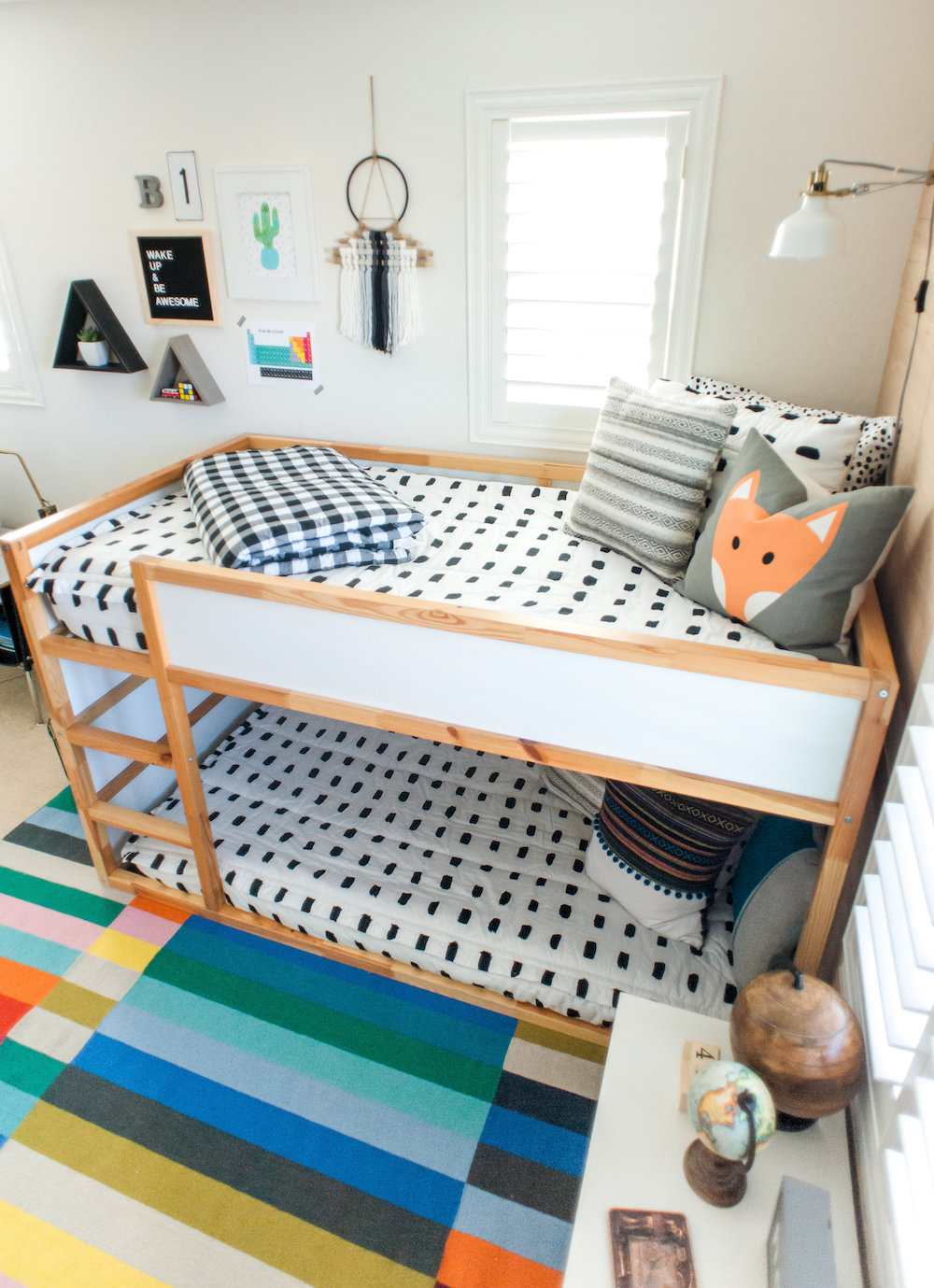 Modern Colorful Boys Room Reveal with Beddys 27