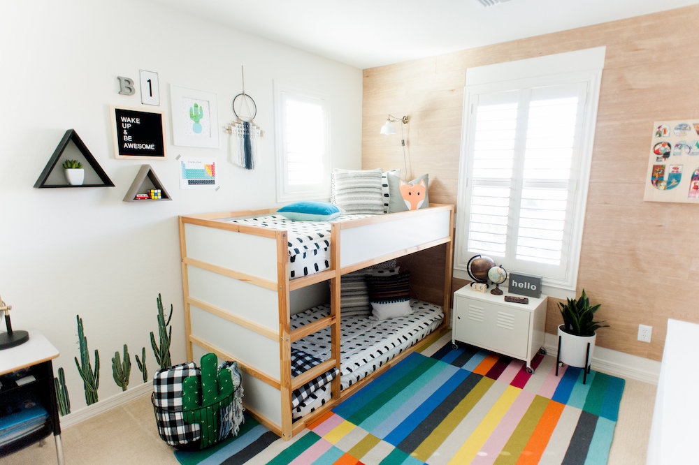 Modern Colorful Boys Room Reveal with Beddys 7