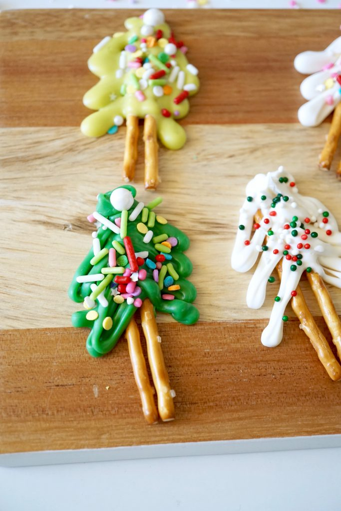 Christmas Tree Chocolate Covered Pretzels