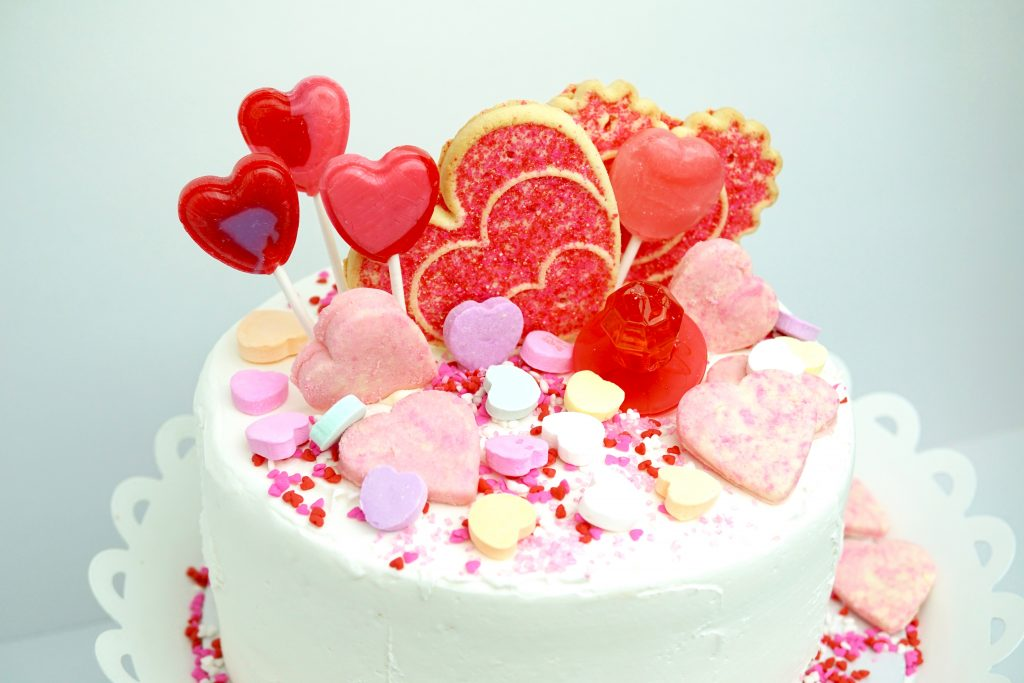 DIY Valentine's Day Candy Cake