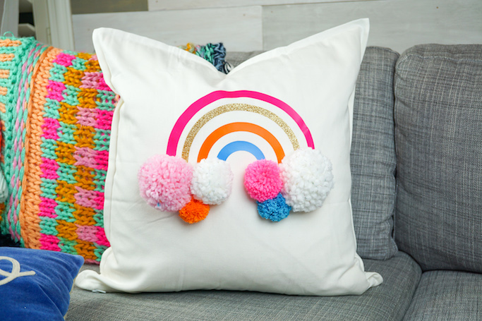 DIY Rainbow Pillow