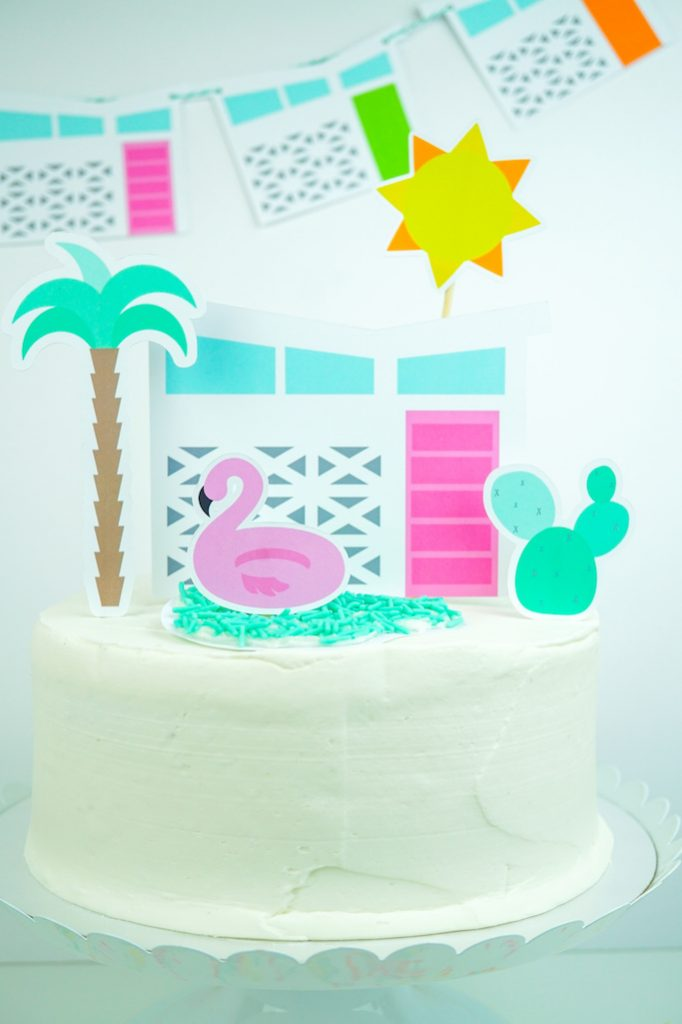 DIY Palm Springs Inspired Cake