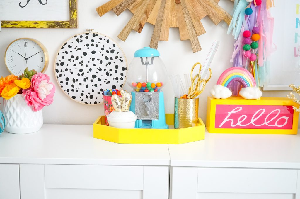 Colorful Craft Room