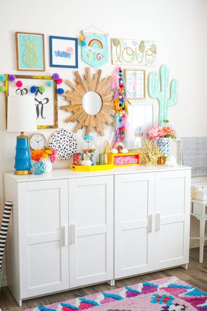 Colorful Craft Room and Office