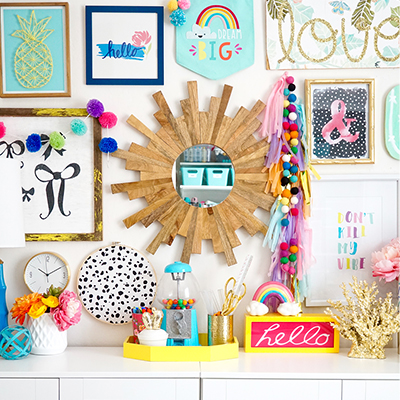 Colorful Craft Room Office Reveal