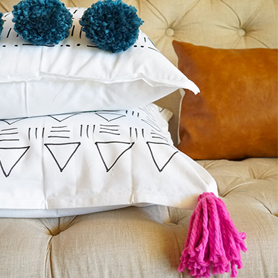 EASY DIY Mudcloth Pillows