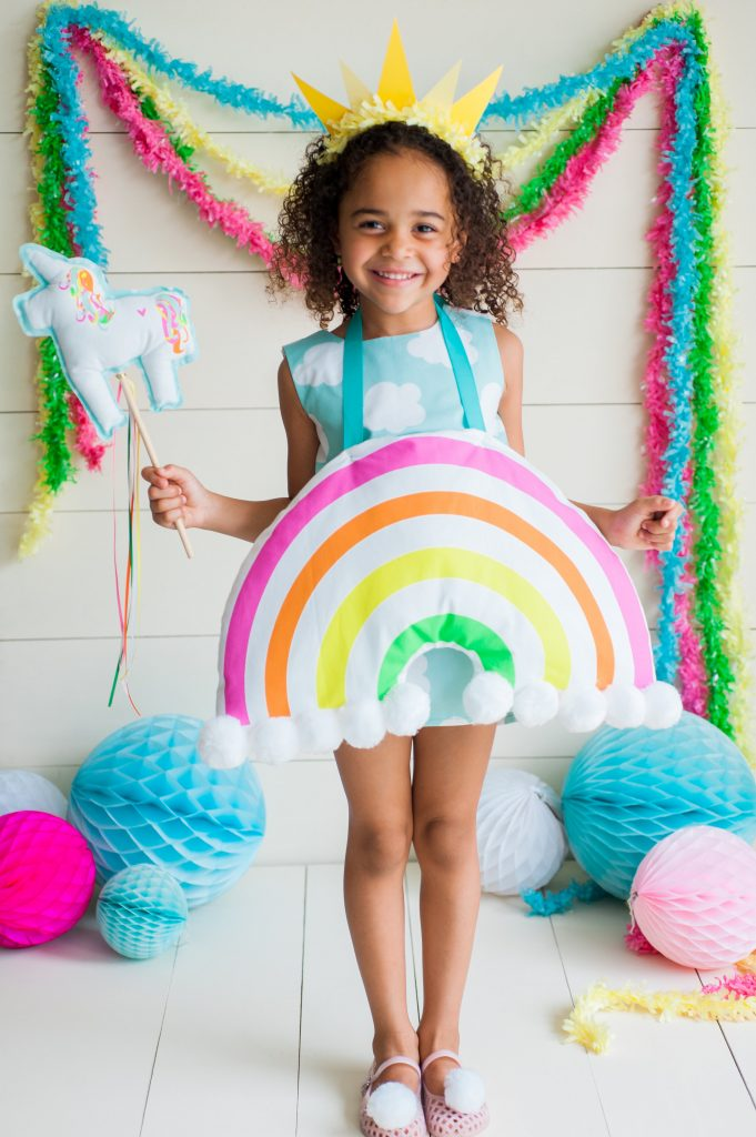 DIY Rainbow Costume by Rebecca Propes for Spoonflower