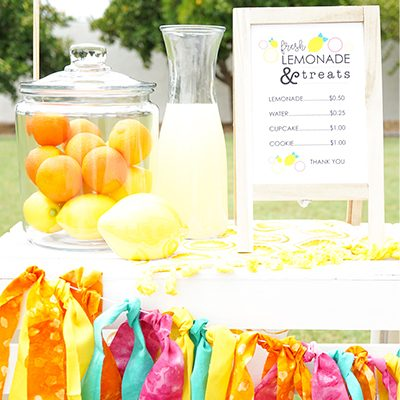 DIY Wood Crate Lemonade Stand