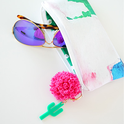 DIY Sunglass Case with Spoonflower
