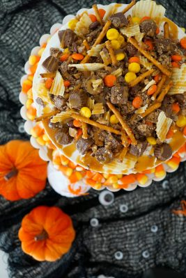 DIY Halloween Candy Cake in 5 Minutes