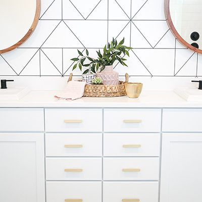 Master Bath Makeover with Mitzi Lighting