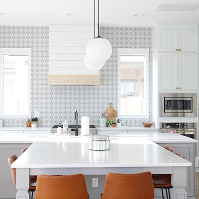 Kitchen Design Reveal…Modern Boho Farmhouse with Mitzi Lighting