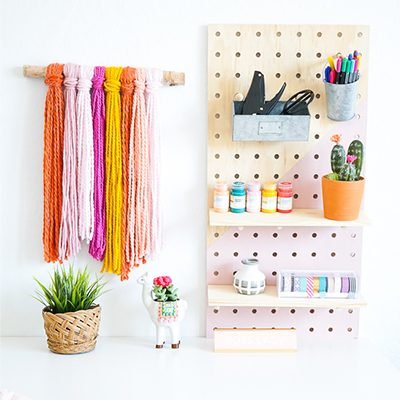 Easy Craft Organization | DIY Peg Board Wall System