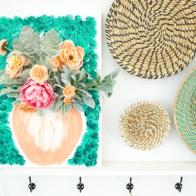 DIY Colorful Floral Canvas