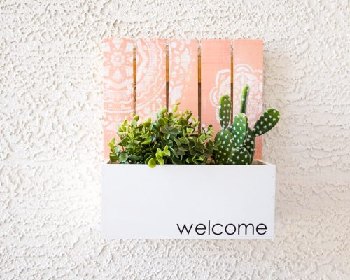 DIY Welcome Address Planter