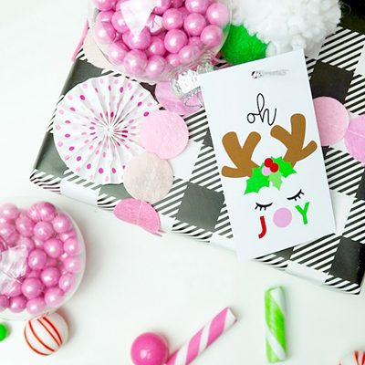 FREE Printable Reindeer Tags & Candy Ornament DIY